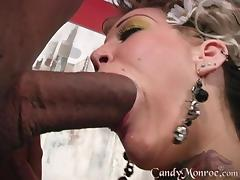 A huge black guy is here to fuck that horny wife