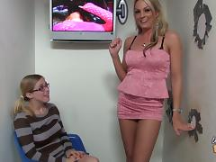 Two smoking hot blonds Sindy Lange and Penny are sharing him