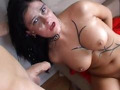 Hardcore cock-sucking with busty Marie Mille