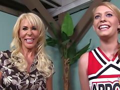 Nasty milf is going to be playing with a hot cheerleader