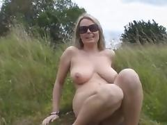 Nature, Big Tits, Blonde, Boobs, Fingering, Masturbation