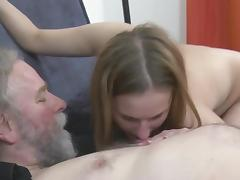 Old and Young, Babe, Big Tits, Blowjob, Boobs, European