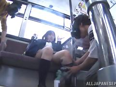 Japanese AV model teen schoolgirl gets fucked publicly video