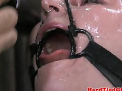 Tattood bdsm fetish sub dildo penetrated