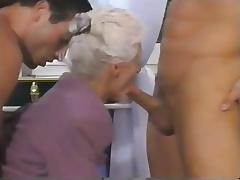 Double Penetration, Double, Granny, Mature, Old, Double Penetration