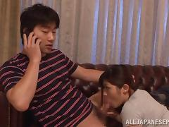 Busty Satou Haruka gets shared by needy males porn video