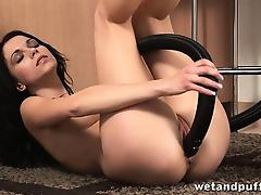 Vacuum, Brunette, Fetish, HD, Masturbation, Pornstar