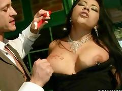 Latina girl gets bondaged and anal fucked