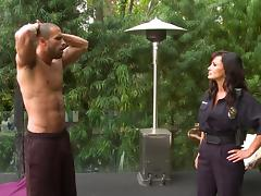 Scrumptious Lisa Ann Goes Hardcore Next To A Swimming Pool