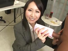 Uncensored, Brunette, Handjob, Japanese, MILF, Office