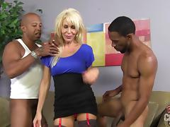 All, Blonde, Cougar, Interracial, MILF, MMF