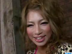 Pretty Jap milf Rumika vibed and fucked simultaneously