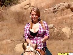 Yummy Sierra Skye Goes Hardcore Outdoors After Riding A Horse