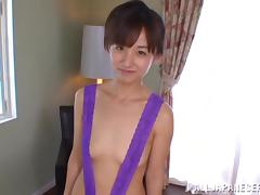 Rimu Sasahara gets her cunt toyed while sucking a cock