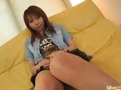 Himena Ebihara lovely Asian babe shaves her sweet pussy