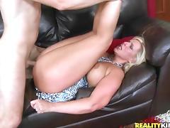 Mom, Big Tits, Blonde, Couple, Facial, Horny