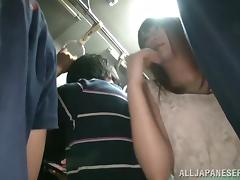Miniskirt, Asian, Babe, Bus, Cumshot, Cute