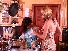 Cunt licking on kitchen counter