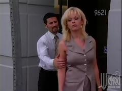 Hardcore Office Fuck with a Big Tit Cumshot
