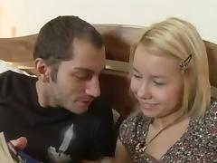 Cute Russian Legal Age Teenager Blond Silvia Anal Fuck