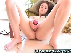 FTV Free Video Long Pink dildo Masturbation