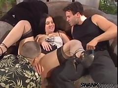 Renee Pornero gets all her holes fucked deep in MMF threesome