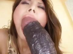 Sexy Asian Sucks And Fucks Her Dildo