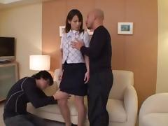 Wild Threesome With A Babe Treated Like A Fuck Doll