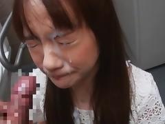 Japanese Unwanted Dislike Blowjob and Cum Facial