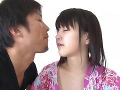 Tsuna Nakamura naughty Asian teen in kimono creampied