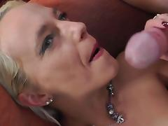 Small tits blonde gets facial