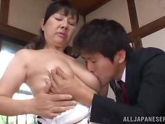 Japanese Cougar Goes Hardcore With Her Dirty Husband