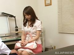 Japanese AV Model sexy babe is an amateur giving a blowjob