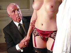Valentina Nappi titfucks Danny D's prick and enjoys multiposition sex