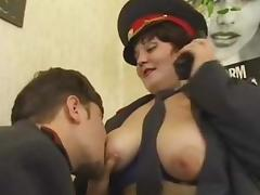 Police, BBW, Cop, Office, Police, Russian