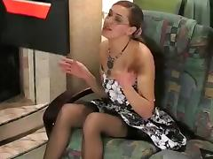 Business Woman, Blowjob, Brunette, Nylon, Office, Russian