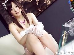 Japanese AV Model is screwed in her wedding dress