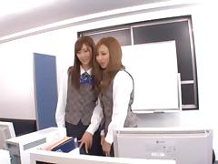 Ayane Sakura and Kotone Amamiya Office ladies in hot Japanese sex