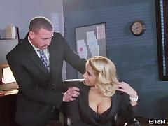Office, Big Tits, Blonde, Boobs, Couple, Hardcore
