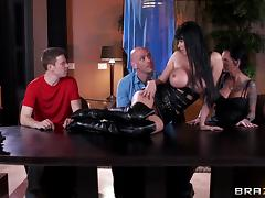 All, Big Tits, Facial, Foursome, Hardcore, Leather