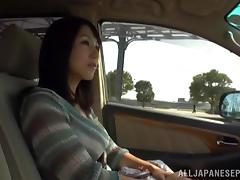 She likes sex outdoors in the car Marie Kimura is nasty