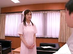 Azusa Ishihara titfucks a dick before taking it in her Japanese pussy