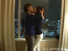 Enticing Asian teen Nozomi Hara gets pussy pounding