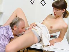 Skinny young cutie Marisa is getting fucked
