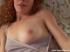 Sexy Redhead Sucking Cock POV