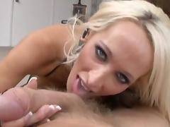 POV blowjob by sexy shemale