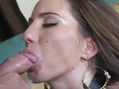 Curvy Kelly Gives A Superb Blowjob Then Yells As He Licks Her