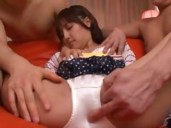 Plenty of anal fun for Rola Aoyama in double penetration threesome