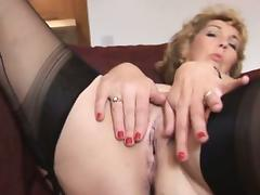 Mature Fetish, Babe, Blonde, Masturbation, Mature, Nylon