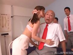 Hairy Asian Teen Gets Massive Bukkake